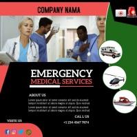 emergency medical services template Instagram-Beitrag