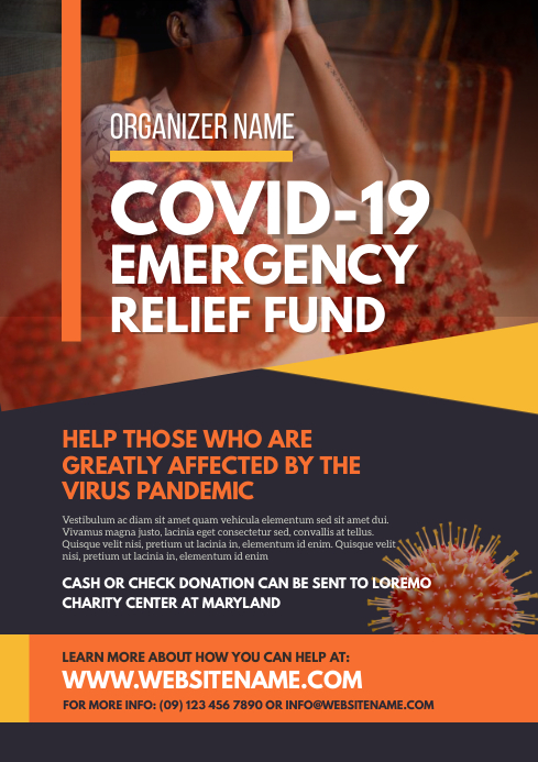 Emergency Relief Fund Flyer A4 template