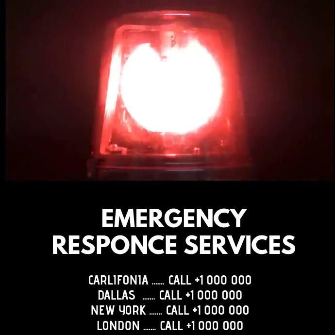 EMERGENCY RESPONSE SERVICES Publicación de Instagram template