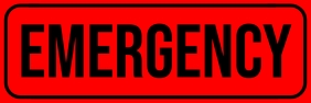 Emergency Sign Board Template Spanduk 2' × 6'