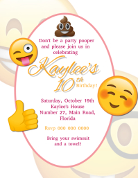 Emoji Birthday Party Invitation Template