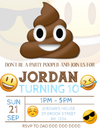 Emoji Birthday Party Invitation Template