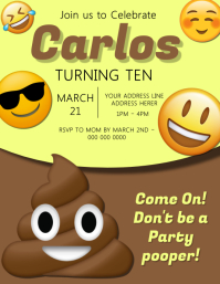 Emoji Kids Party Invitation Template