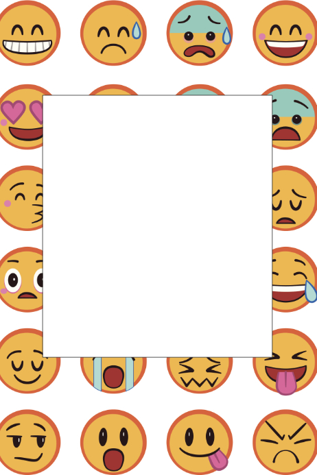 Emoji Party Prop Frame Template | PosterMyWall