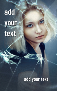 Emotional issues book cover design template
