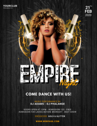 Empire Party flyer template
