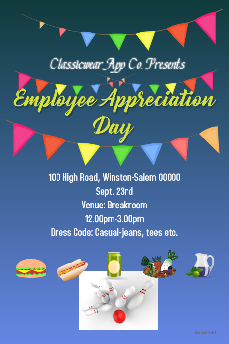 employee appreciation day arrange a party today template