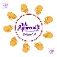 Employee Appreciation Day 2021 Template Instagram-bericht