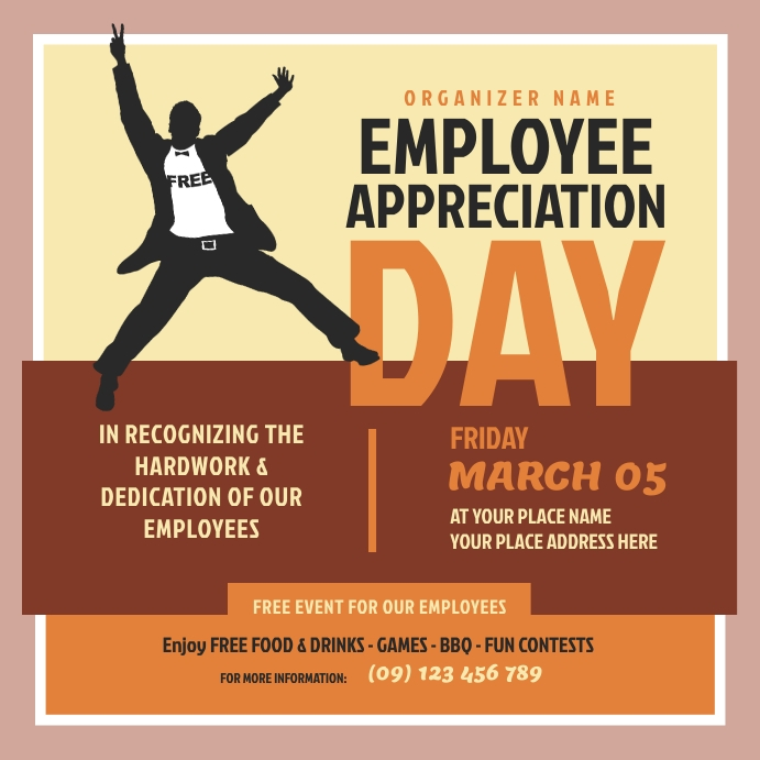 Employee Appreciation Day Instagram Post template