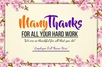 Employee Appreciation Message Template Poster