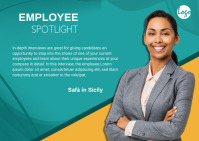 employee feature Postcard template