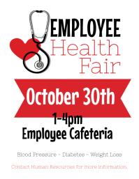 Employee Health Fair Flyer