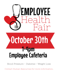 Employee Health Fair Flyer