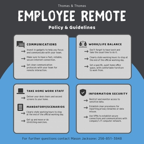 Employee Remote Work Information Company Guid Instagram Post template