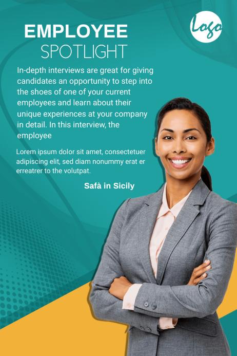 Employee Spotlight Banner template