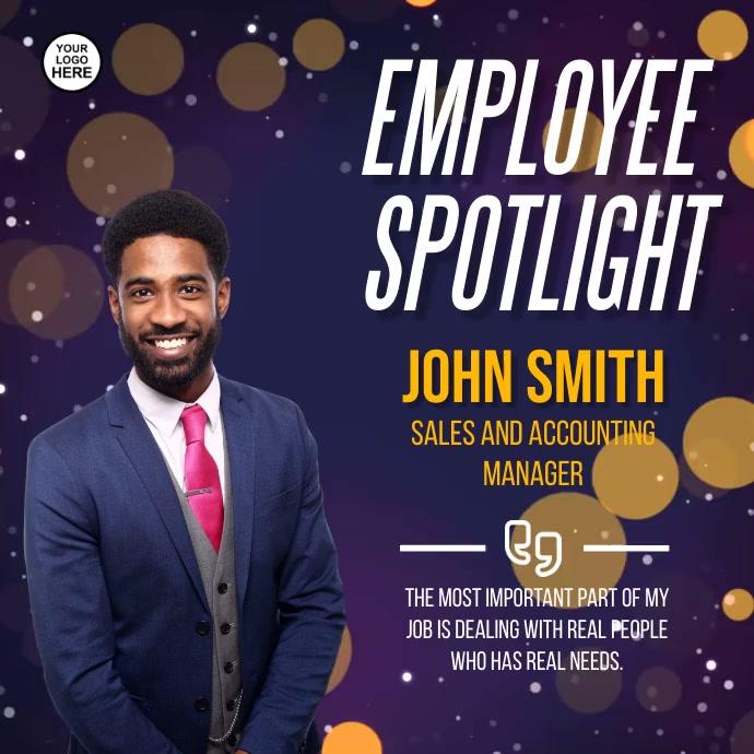 Employee Spotlight Square (1:1) template