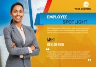 Employee Spotlight flyers A4 template