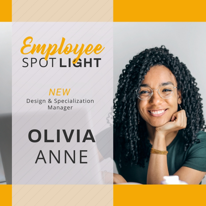 Employee Spotlight Instagram Post template
