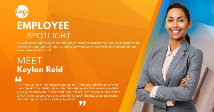 Employee Spotlight social medial post Facebook Shared Image template