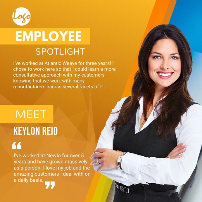 Employee Spotlight social medial post Square (1:1) template