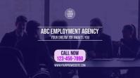 Employment Agency Ecrã digital (16:9) template