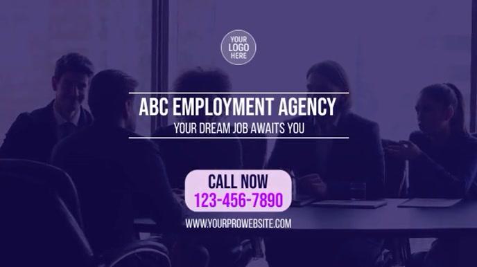 Employment Agency Digitalt display (16:9) template