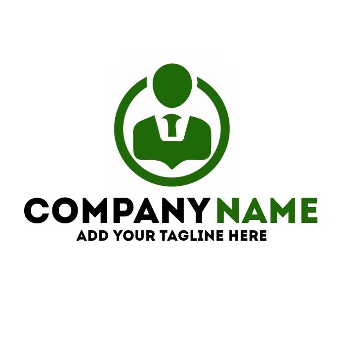 employment agency green man icon logo