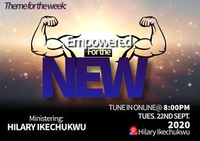 Empowered church program flyer A6 template