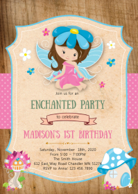 Enchanted fairy birthday party invitation