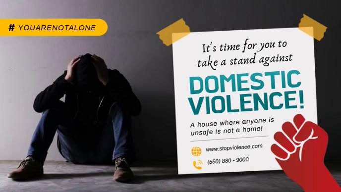End Domestic Violence Facebook Cover Video Facebook-covervideo (16:9) template