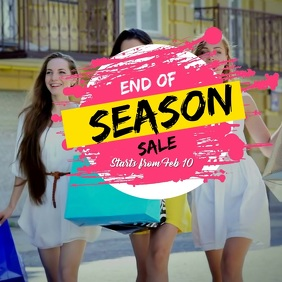 End of Season Sale Persegi (1:1) template