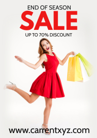 End of Season Sale Flyer Poster Advert Shop A4 template