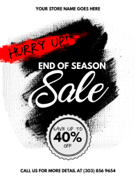 End of Season Sale Flyer