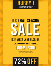 end of season sale Flyer Template