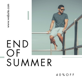 end of summer fashion instagram post advertis template