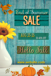 End of Summer Sale Poster Cartaz template
