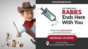 End Rabies Vídeo de portada de Facebook (16:9) template