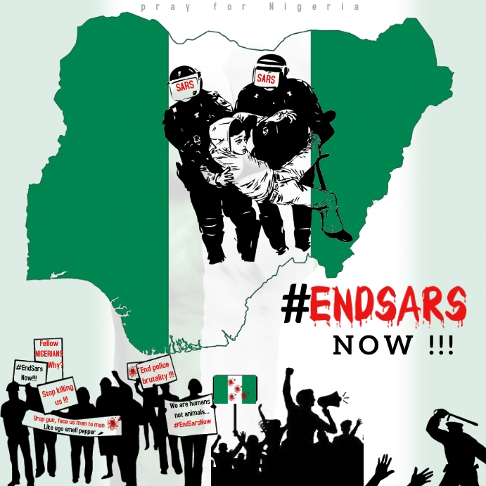 End Sars Now Nigeria Instagram na Post template