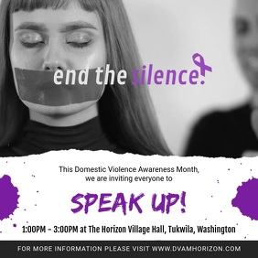 End the Silence Domestic Violence Awareness V