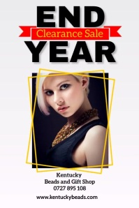 End year clearance sale poster template