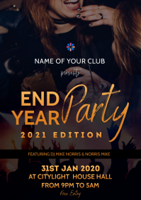 END year party flyer