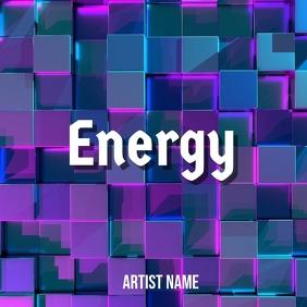 Energy album art template