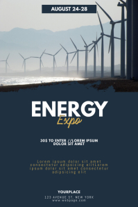 Energy Expo Conventions Flyer Template Poster