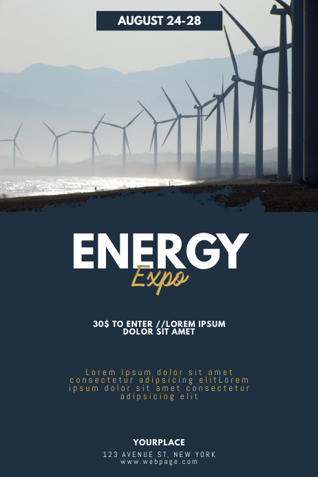 Energy Expo Conventions Flyer Template
