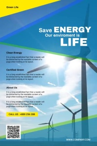 Energy Flyer Cartaz template