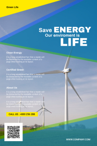 Energy Flyer Poster template