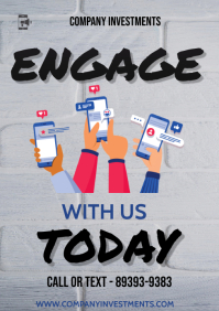 engage flyer A3 template