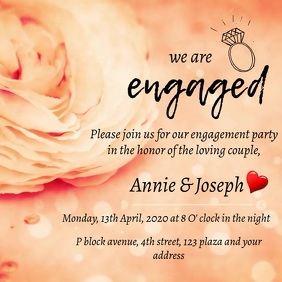 engagement party digital invitation Album Omslag template