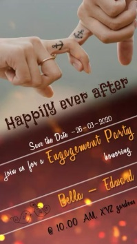 engagement party digital invitation