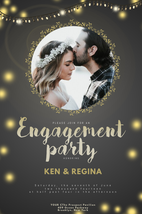 Engagement Party Flyer Template